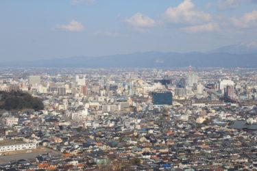 八幡山展望台からの展望と行き方-福井展望スポット-