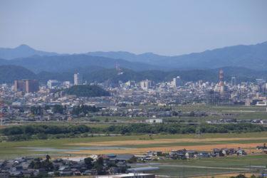 六呂瀬山古墳群からの展望と行き方-福井展望スポット-