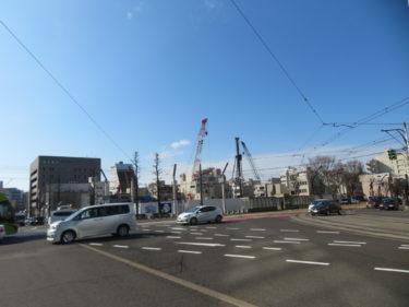福井銀行本店の建設工事記録②(2018.10~2019.3)-福井市再開発-