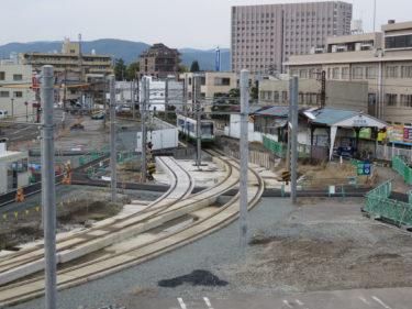【田原町駅建替工事③】福鉄仮設ホーム設置の様子(2014.04~07)