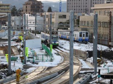【田原町駅建替工事④】えち鉄仮設ホーム設置の様子(2014.08~12)