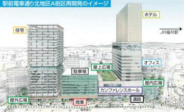 福井駅前三角地帯A街区再開発ビルの平面図が公開 2020.8