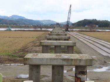 旧布施田橋撤去工事状況 2020.1