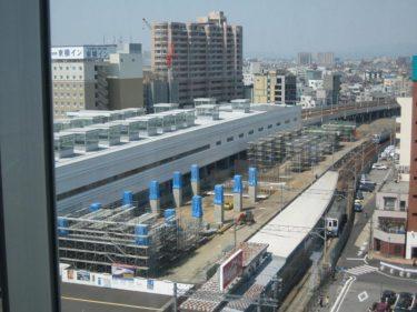 【北陸新幹線福井駅部工事記録5】(2007.5)橋脚工事が本格的になる