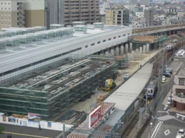 【北陸新幹線福井駅部工事記録6】(2007.6~7)橋脚にょきにょき期