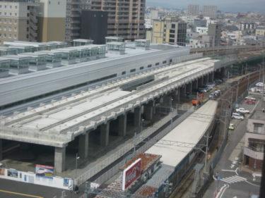 【北陸新幹線福井駅部工事記録10】(2008.4~6)高架橋工事終盤に入る