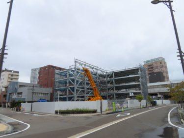 【システムパーク福井駅東工事記録3】(2020.8~10)鉄骨組み立て