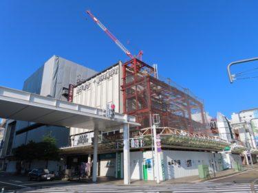 【ハニー跡地再開発工事記録7】(2020.6~7)オフィス棟建設開始・マンション6~8階施工中