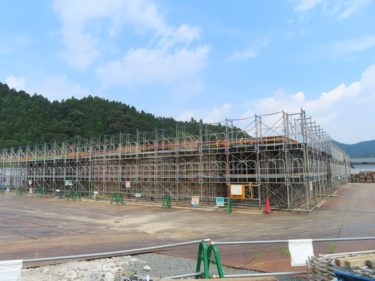 一乗谷朝倉氏遺跡博物館建設の様子 2020.8