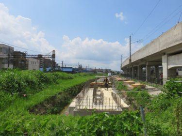 【えちぜん鉄道高架化工事記録3】(2014.7)仮線敷設工事①