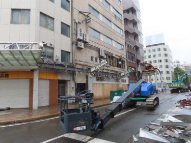 【三角地帯再開発A工事記録9】(2020.10)中央大通りのアーケード解体②