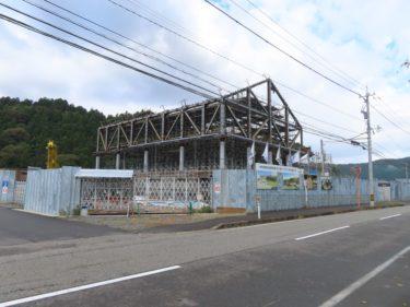 一乗谷朝倉氏遺跡博物館建設の様子 2020.10