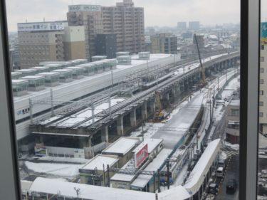 【えちぜん鉄道高架化工事記録6】(2015.1)仮線敷設工事④