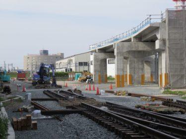 【えちぜん鉄道高架化工事記録8】(2015.5)仮線敷設工事⑥