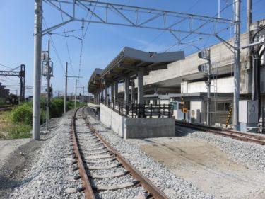 【えちぜん鉄道高架化工事記録9】(2015.8)仮線敷設工事⑦