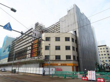 【三角地帯再開発A工事記録17】(2020.12)電車通り足場設置中4