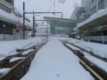 大雪時の福井駅前の様子④【2021年1月10日後編】
