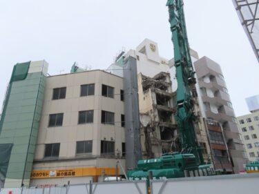 【三角地帯再開発A工事記録21】(2021.1)廃止市道付近建物解体2