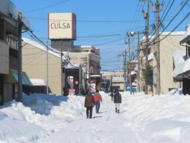 大雪時の福井駅前の様子⑤【2021年1月11日】