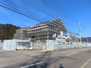 一乗谷朝倉氏遺跡博物館建設の様子 2021.2