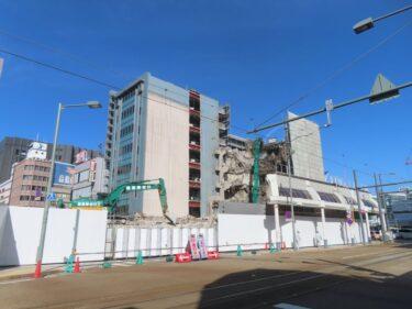 【三角地帯再開発A工事記録29】(2021.3)廃止市道南側・敷地中央付近建物解体3