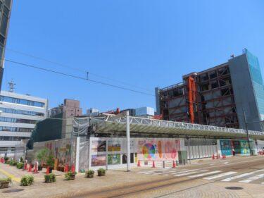 【三角地帯再開発A工事記録35】(2021.4)廃止市道南側・敷地中央付近建物解体8