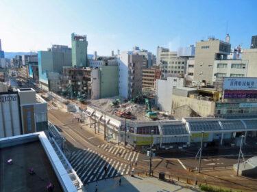 【三角地帯再開発A工事記録34】(2021.4)廃止市道南側・敷地中央付近建物解体7