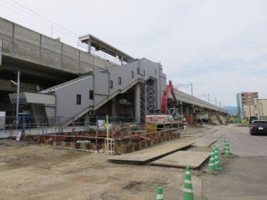 【えちぜん鉄道高架化工事記録15-2】(2016.6)高架橋建設①-2