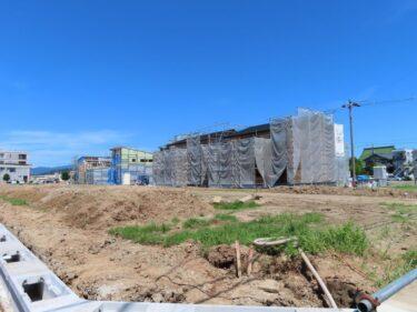 ジュニアグランド跡地住宅地開発工事の様子 2021.7【エーシンガーデン板垣】