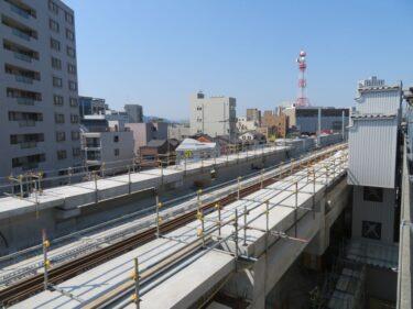 【えちぜん鉄道高架化工事記録19-2】(2017.5)高架橋建設⑤-2