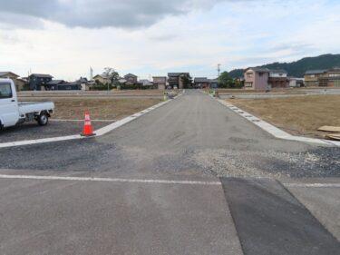 エーシンガーデン東郷区画整備の様子 2021.9