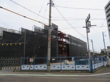【えちぜん鉄道高架化工事記録20-2】(2017.7)駅舎建設①-2