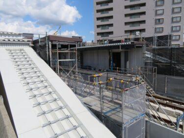 【えちぜん鉄道高架化工事記録21-2】(2017.9)駅舎建設②-2