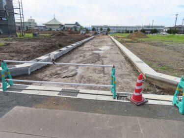 ジュニアグランド跡地住宅地開発工事の様子 2021.9【エーシンガーデン板垣】